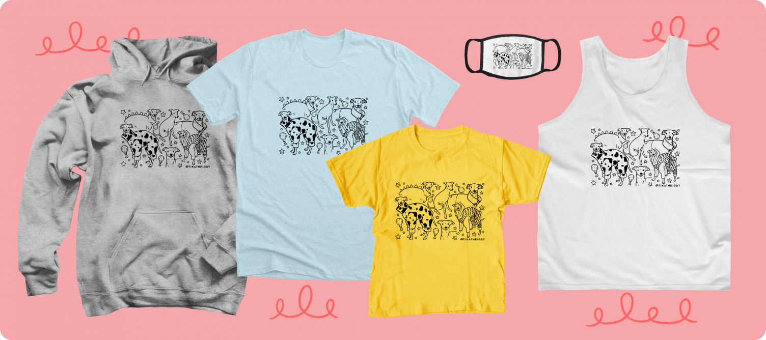 Doodle Design merch from the Famous TikToker Tika the Iggy.