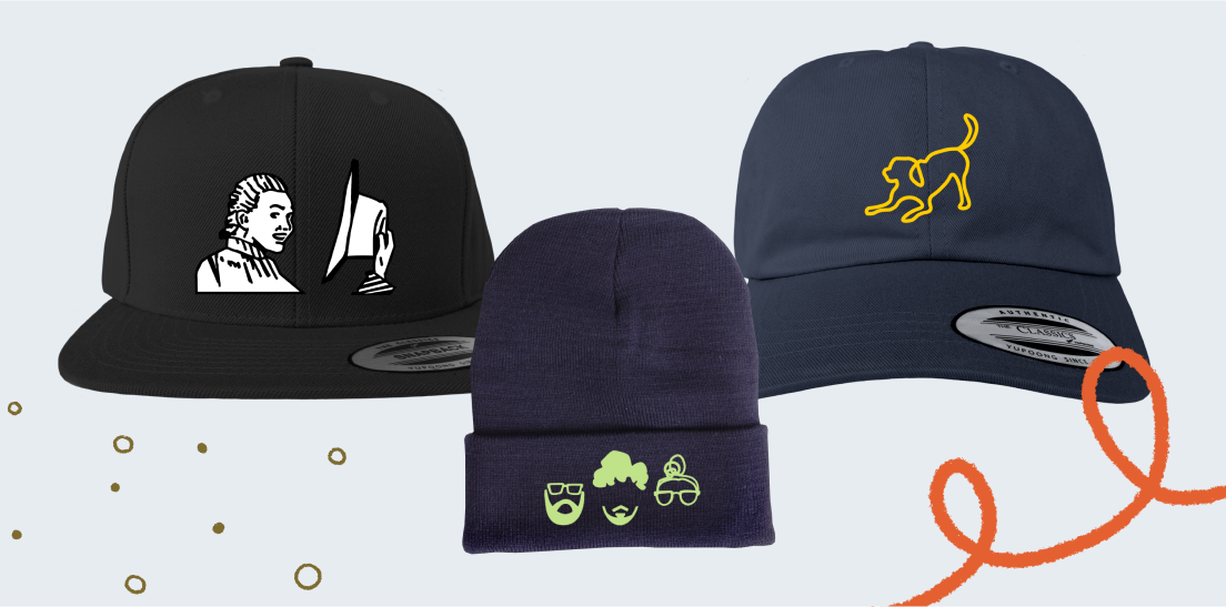 Design your hat with custom design elements or imagery.