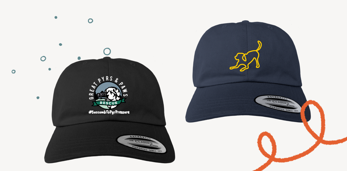 Classic baseball hat designs from the GPPR Baseball Cap campaign.